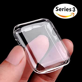Apple Watch ケース, Misxi アイフォンウォッチ Series 3 柔らかい TPU 保護フィルムオールラウンド超薄型カバー新しいアップルウォッチシリーズ 3 ケース 42mm (2017)