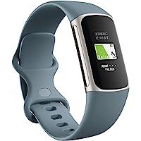 【Suica対応】 Fitbit Charge5 GPS搭載フィットネストラッカー スチールブルー/プラチナ ステンレス…