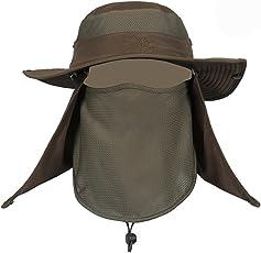 RICHELEハット 帽子 ぼうし メッシュ 使用 紫外線 から 360度 ガード / UV カット 日焼け 防止 顔 首 日よけ カバー / 登山 釣り プール 海水浴 アウアドア
