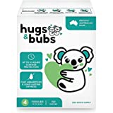 Hugs & Bubs, Size 4 Toddler nappies (up to 10-15kg), 150 nappies, One Month Supply