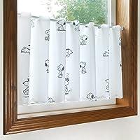 スヌーピー グッズ 小窓用 カフェカーテン ランダム SNOOPY PEANUTS フリーカット (幅120×丈45cm…