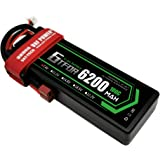 GTFDR 7.4V 100C 2S 6200mAh 大容量バッテリー Tプラグ令和最新版 リポバッテリー ラジコン製品用バッテリー RCカー用 RCトラック用 無人機用など