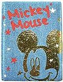 ディズニー ミッキーマウス ミラー デニム素材 ブルー