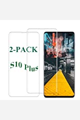 S10 Plus Screen Protector Tempered Glass for Samsung Galaxy S10 Plus Case Friendly 9H Hardness 3D Curved HD Coverage [Fingerprint ID Enabled] [2-Pack] 001 Hardcover