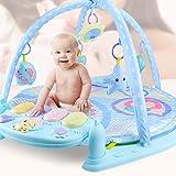 ベビージム ピアノジム スタープロジェクター 幼児ジム ジム ベビージム プレイマット 赤ちゃんの刺激の成長 ベビーベッド 洗濯機で洗える 子どもプレイマット お片付け簡単 特大マット 0ヶ月から対象 誕生日プレゼント 出産祝い