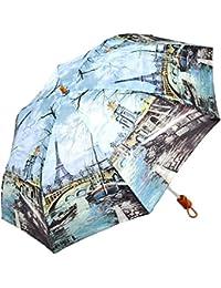 レディース 傘 おしゃれな 名画シリーズ 49cm 折りたたみ傘 エッフェル塔