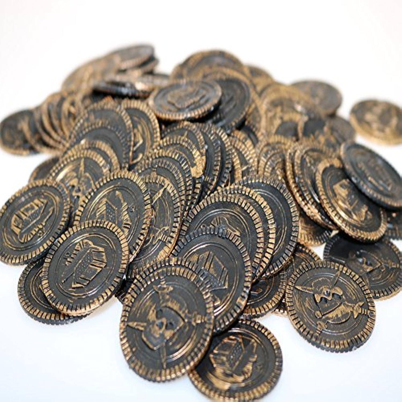 XuBa 海賊の小道具のコイン シミュレーションコインゲームのチップの宝物 100pcs