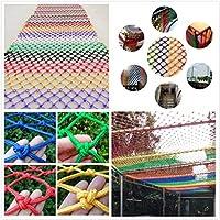 ロープネット、子供転倒防止ネット、装飾ネット、バルコニー窓に適しています保護天井吊り橋庭のフェンススイング建設ネット1m 2m 3m 4m (Color : Colorful, Size : 4*7M)