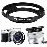 JJC 52mm ねじ込み式レンズフード シェード 富士フィルム Fujifilm Fujinon XC 15-45mm F3.5-5.6 OIS PZ用 カメラレンズフード 適合カメラ: X-T100 X-A5 X-H1 X-Pro2 X-Pro1