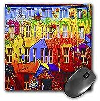 3drose LLC 8x 8x 0.25インチマウスパッド、Graffiti Wall City背景明るい色の赤、オレンジ、青と黄( MP _ 53872_ 1)