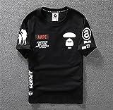 AAPE BY A BATHING APE エーエイプTシャツ 半袖テューシー ストゥーシー スチューシー (M, ブラック)