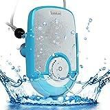 LuguLake IPX5の防水仕様 防水耐衝撃 Bluetoothシャワースピーカー 充電式 ポータブル ワイヤレス スピーカー  吸盤付 内蔵マイク ハンズフリー通話 お風呂場、バスルーム、プール、ボート、車、キッチン、ビーチ、アウトドア適用 (SOUL(ブルー))