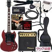 Maison メイソン エレキギター SGタイプ サクラ楽器オリジナル SG-28/CH 初心者入門13点セット