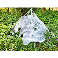 Scary Halloween 9 Ft. 270cm Giant Spider Web Outdoor Decor Yard Decorations with Super Stretchy Spider Web [並行輸入品]