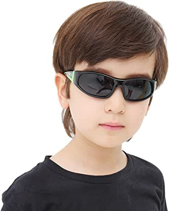 DUCO キッズサングラス 子供サングラス 偏光レンズ 超軽量フレーム ファッションなデザイン UV紫外線カット かわいい車型な眼鏡ケース付き