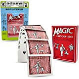 Adams Pranks and Magic - Magic Cartoon Deck Magic Trick - Classic Novelty Magic Toy