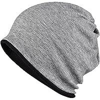 WOOSOO ニット帽 ネックウォーマー多機能 防寒 アウトドア ロールアップ ビーニー 両面使用 無地 男女兼用