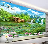 QUDMST 巨大な風景のワンダーランド3D風景壁カスタム大壁画壁紙-120X100cm