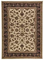 Well Woven Barclay Sarouk Ivory Traditional Area Rug 2'3 X 3'11 [並行輸入品]