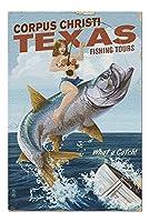 コーパスクリスティ、テキサス–Pinup Girlターポン釣り( 20x 30プレミアム1000ピースジグソーパズル、アメリカ製。 )