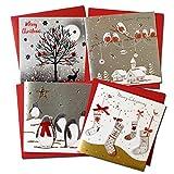 クリスマスカード 「ホワイト クリスマス」 63 四点セット AD