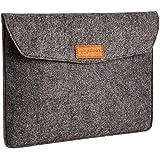 """AmazonBasics 13"""" Felt Laptop Sleeve, Charcoal"""