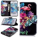 Lomogo iPhone6Sケース/iPhone6ケース 手帳型 耐衝撃 レザーケース 財布型 カードポケット スタンド機能 マグネット式 アイフォン6S/6 手帳型ケース カバー 人気 - LOBFE11243#10