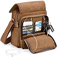 Plambag Canvas Messenger Bag Small Travel School Bag