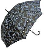 CAFE DIMLY ダイナソーBK 恐竜柄 55CM クロ カフェディムリー キッズカサ 子供傘 ジャンプ傘 グラスファイバー骨使用 晴雨兼用傘