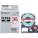 キングジム テープカートリッジ テプラPRO SS36R 白ラベル 赤文字 36mm