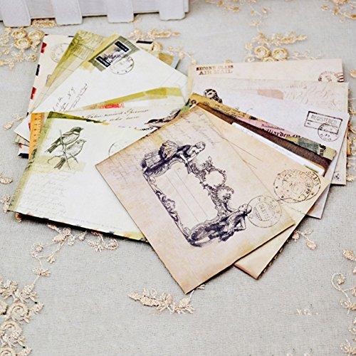 (デイリー スウィート)Daily Sweet ミニ封筒 アンティーク柄 挨拶状封筒 12枚セット
