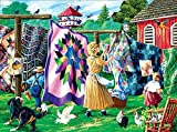 Best SunsOut 1000ピースのパズル - QuilterのClothesline 1000pcジグソーパズルby SunsOut Review