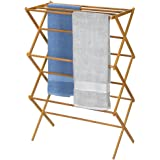 Bamboo Clothes Airer Towel Hanger Rack Air Drying Horse Laundry Aussi Stock