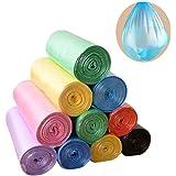 Trash Bags, 5 Rolls/100 Counts 4 Gallon biodegradable trash Bags for Bathroom, Bedroom, Office, Car, Home Waste Bin Plastic T