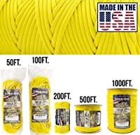 (300m (WOUND ON SPOOL), Yellow) - TOUGH-GRID 340kg Paracord/Parachute Cord - Genuine Mil Spec Type IV 340kg Paracord Used by The US Military (MIl-C-5040-H) - 100% Nylon - Made in The USA.