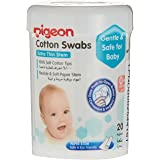 Pigeon Cotton Swabs (Thin Stem), Hinged Case, 200ct (Packaging may vary)