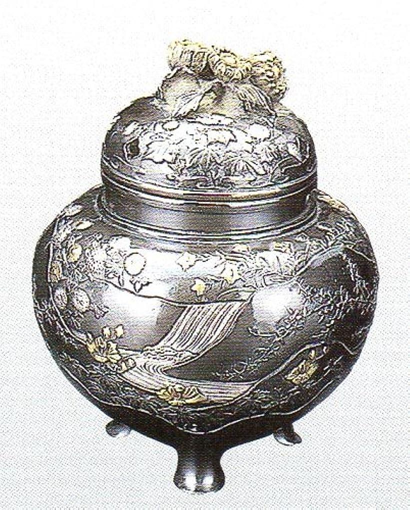 恐怖症持続する幾何学香炉 四季 蝋型青銅製 桐箱入 高さ10.2×幅9.2×奥行9.2cm