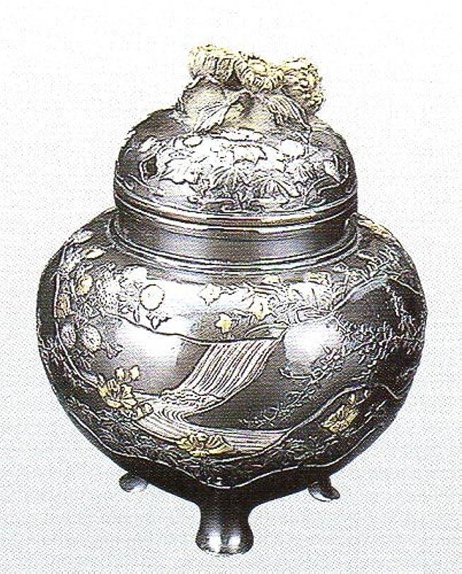 戦略取り出すフィールド香炉 四季 蝋型青銅製 桐箱入 高さ10.2×幅9.2×奥行9.2cm
