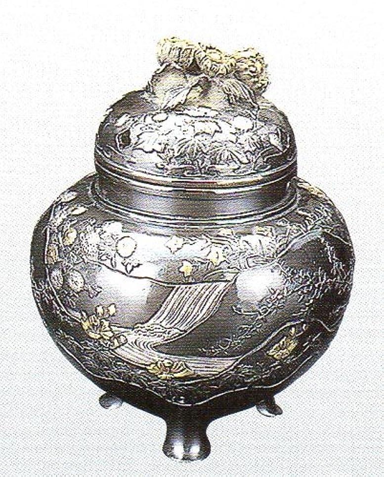 機知に富んだ山岳環境保護主義者香炉 四季 蝋型青銅製 桐箱入 高さ10.2×幅9.2×奥行9.2cm