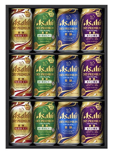 アサヒ ドライプレミアム 4種セット (350ml缶×4種計12本入)