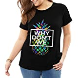 Kaguo Why We Merchandise Don't Psych Pineapple Women's Short Sleeve T Black
