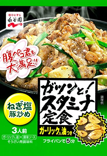 永谷園 ガツンと! スタミナ定食 ねぎ塩豚炒め 3人前×5個