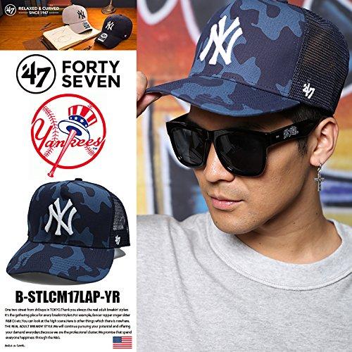 【B-STLCM17LAP-YR】 フォーティーセブンブランド 47BRAND CAP ベース ボールキャップ MLB メジャーリーグ ニューヨーク ヤンキース 迷彩 メッシュ 正規品
