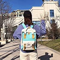 ZHANGYOUDE Oxford Cloth School Backpack Casual Handbag Waterproof Shoulder Bag (Green) (Color : Green)