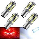 4pcs White 1157 BAY15D P21/5W 5630 33SMD Car LED Bulbs 900LM Super Bright Canbus LED Brake Lights for Trailer Truck 12-30V 3.