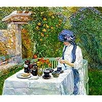 The terre-cuite Teaセットとも呼ばFrench Tea Garden ) – byフレデリック?チャイルド?Hassam – Unframed 28