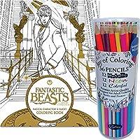 (セット) Fantastic Beasts Coloring Book and Specialty大人用色鉛筆