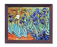 Vincent Van Gogh Flower Les Irises画像フレーム付きアートプリント