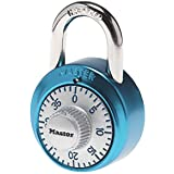 Master Lock 1561DLTBLU Locker Lock Combination Padlock, 1 Pack, Light Blue