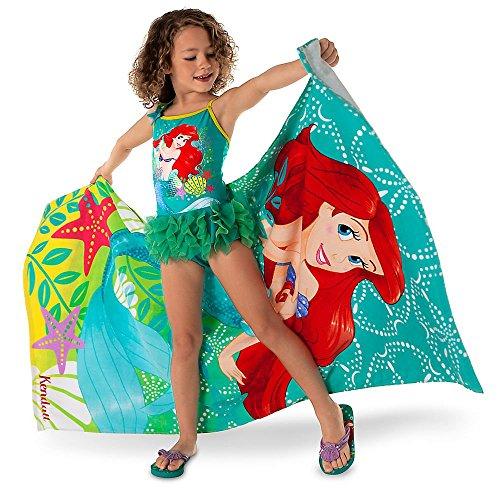 (ディズニー) Disney リトル・マーメイド アリエル デラックスワンピース水着 女の子 子供用 ターコイズ/チュチュ USディズニーストア (3 (2-3歳)身長86-97cm) [並行輸入品]